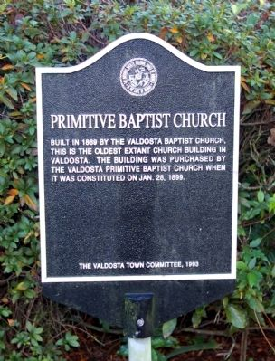 Primitive Baptist Church Marker image. Click for full size.
