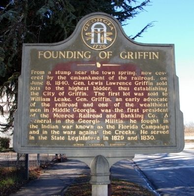 Founding of Griffin Marker image. Click for full size.