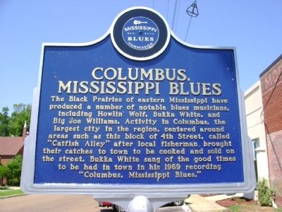 Columbus Mississippi Blues Marker image. Click for full size.
