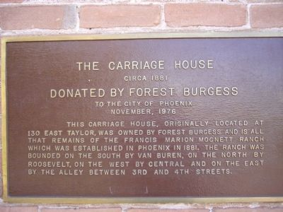 The Carriage House Marker image. Click for full size.