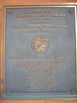 Additional Marker - To the Right of the Library Entrance. image. Click for full size.