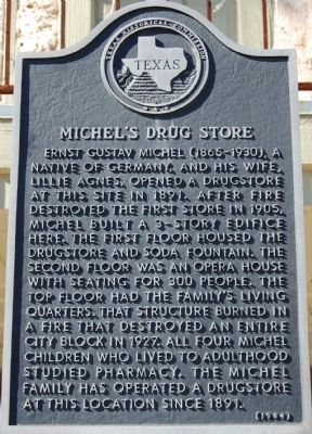Michel's Drug Store Marker image. Click for full size.