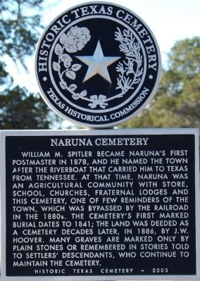 Naruna Cemetery Marker image. Click for full size.
