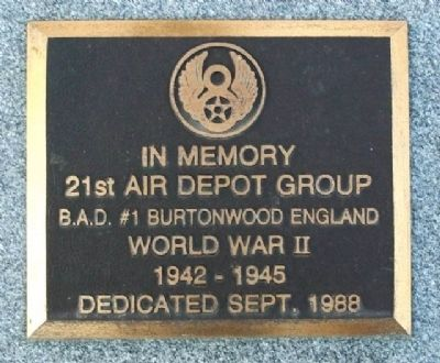 21st Air Depot Group Memorial image. Click for full size.