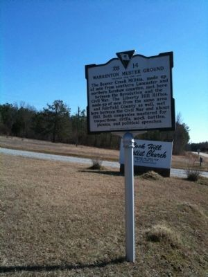 Warrenton Muster Ground Marker image. Click for full size.