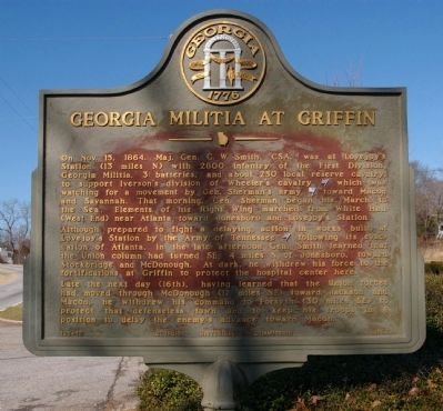 Georgia Militia at Griffin Marker Photo, Click for full size