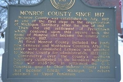 Monroe County Since 1817 Marker image. Click for full size.