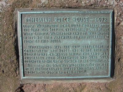 Nehemiah Royce House Marker Photo, Click for full size