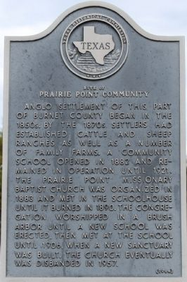 Site of Prairie Point Community Marker image. Click for full size.