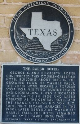 The Roper Hotel Marker image. Click for full size.