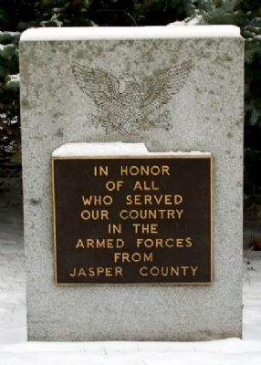 Jasper County Veterans Memorial image. Click for full size.