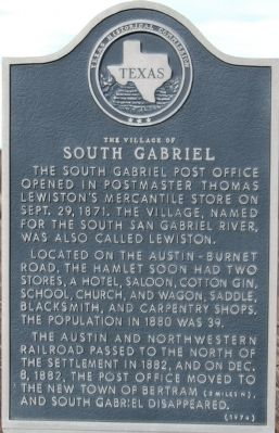 The Village of South Gabriel Marker image. Click for full size.