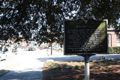Bishopville Marker, looking westward along South Main Street image. Click for full size.