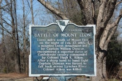 Battle of Mount Elon Marker image. Click for full size.