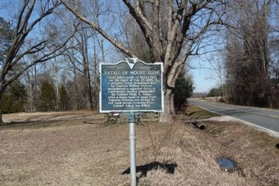 Battle of Mount Elon Marker, looking east image. Click for full size.