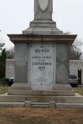 Sumter District Confederate Dead , east face image. Click for full size.
