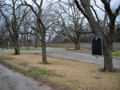 View of park and marker. image. Click for full size.