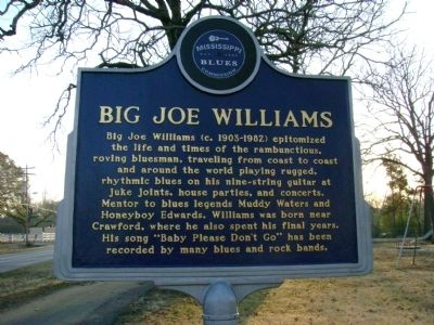 Big Joe Williams Marker image. Click for full size.