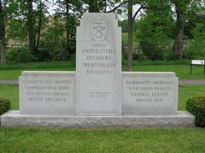 109th Infantry Regiment Memorial image. Click for full size.