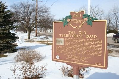 The Old Territorial Road Marker image. Click for full size.