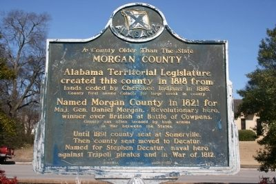A County Older Than The State, Morgan County Marker Photo, Click for full size
