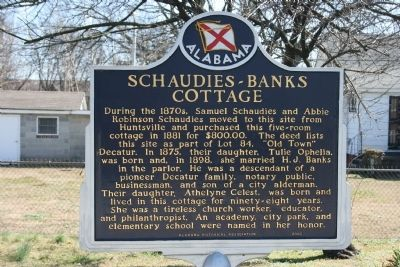 Schaudies - Banks Cottage Marker image. Click for full size.