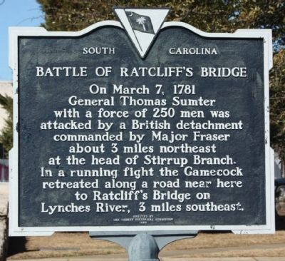 Battle of Ratcliff's Bridge Marker image. Click for full size.