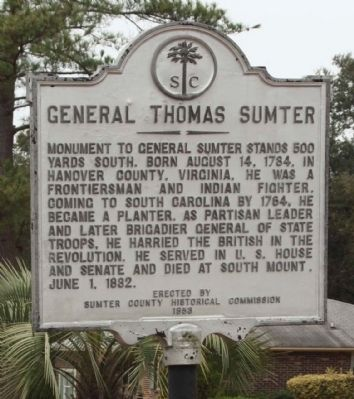 General Thomas Sumter Marker Photo, Click for full size