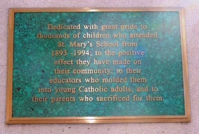 St. Mary's School Students Marker image. Click for full size.
