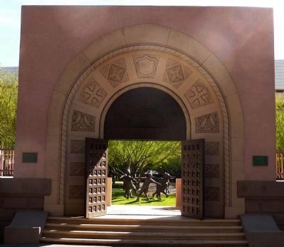 The St. Mary's School Entrance Arch and Doors image. Click for full size.