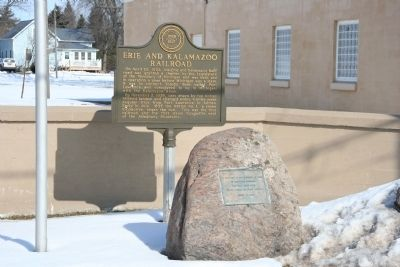 Erie and Kalamazoo Railroad Marker Photo, Click for full size