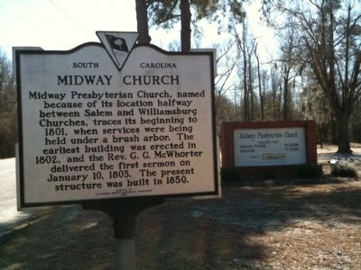 Midway Church Marker image. Click for full size.
