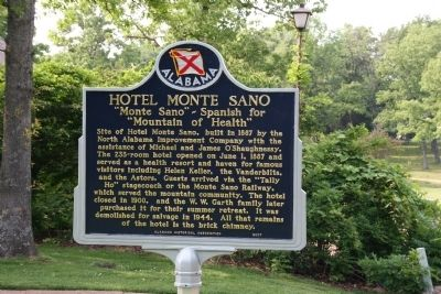 Hotel Monte Sano Marker Photo, Click for full size