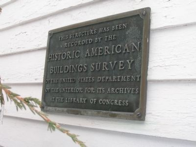 Documented - Historic American Buildings Survey Photo, Click for full size