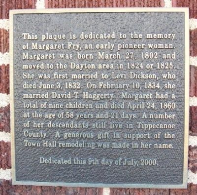 Margaret Fry Marker image. Click for full size.