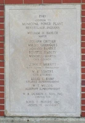 Rensselaer Power Plant 1949 Addition Marker image. Click for full size.