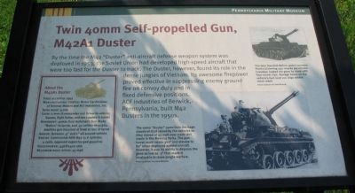 Twin 40mm Self-propelled Gun, M42A1 Duster Marker image. Click for full size.