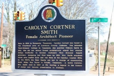Carolyn Cortner Smith Marker Side A image. Click for full size.