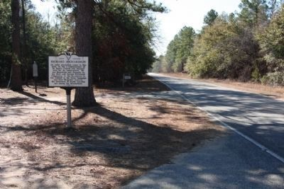 Richard Richardson Marker, looking south along Camp Mac Boykin Road (State Road 43-51) image. Click for full size.