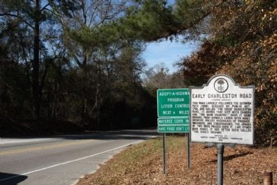 Early Charleston Road Marker, looking south along North King's Highway (State Road 261) image. Click for full size.