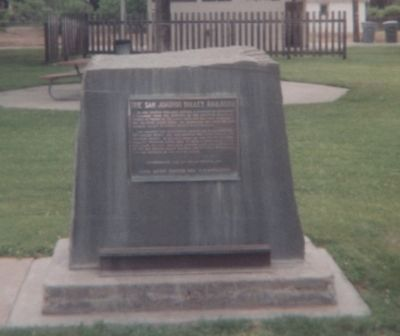The San Joaquin Valley Railroad Marker Photo, Click for full size