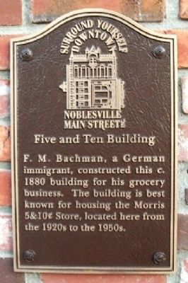 Five and Ten Building Marker image. Click for full size.