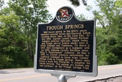 Trough Springs Marker image. Click for full size.