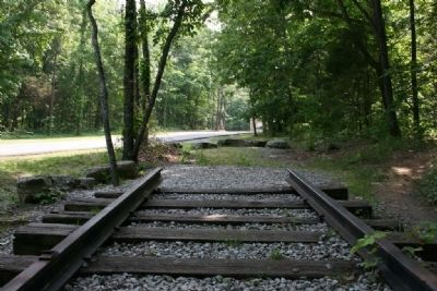 Tracks to nowhere, Monte Sano Railway image. Click for full size.