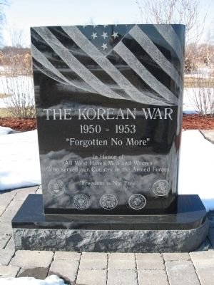 The Korean War Marker image. Click for full size.