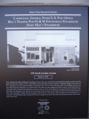 Carmichael General Store/U.S. Post Office Marker image. Click for full size.