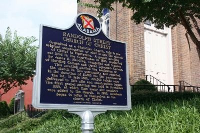 Randolph Street Church Of Christ Marker image. Click for full size.