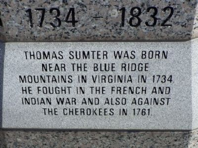 General Thomas Sumter west face, right panel image. Click for full size.