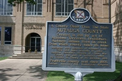 A County Older Than the State, Autauga County Marker image. Click for full size.