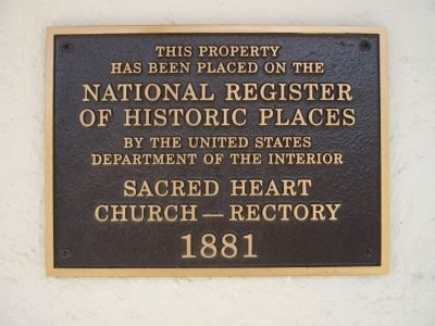 Sacred Heart Church Rectory Plaque image. Click for full size.